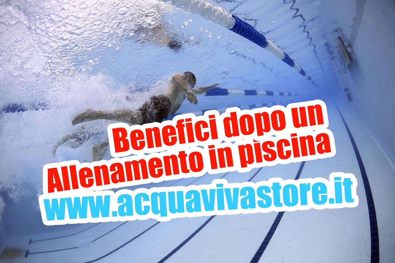 Benefici dopo un allenamento in piscina