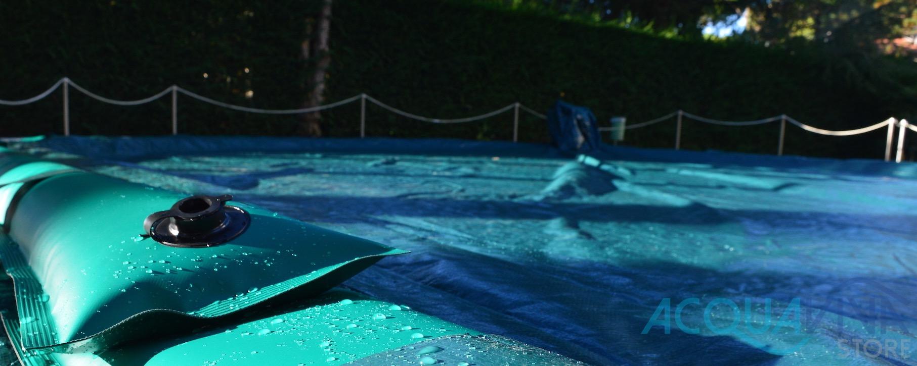Rimuovere copertura invernale della piscina