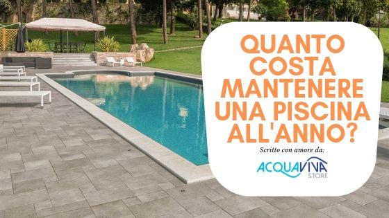 Qual'è il costo per la manutenzione di una piscina interrata o fuori terra?