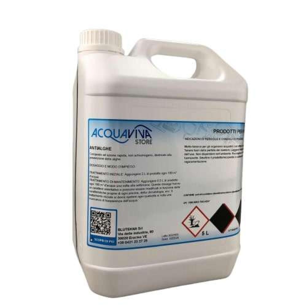 Antialghe per piscine o fontane non schiumoso confezione da 5 L