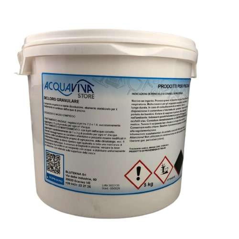 Cloro in polvere granulare confezione da 5Kg