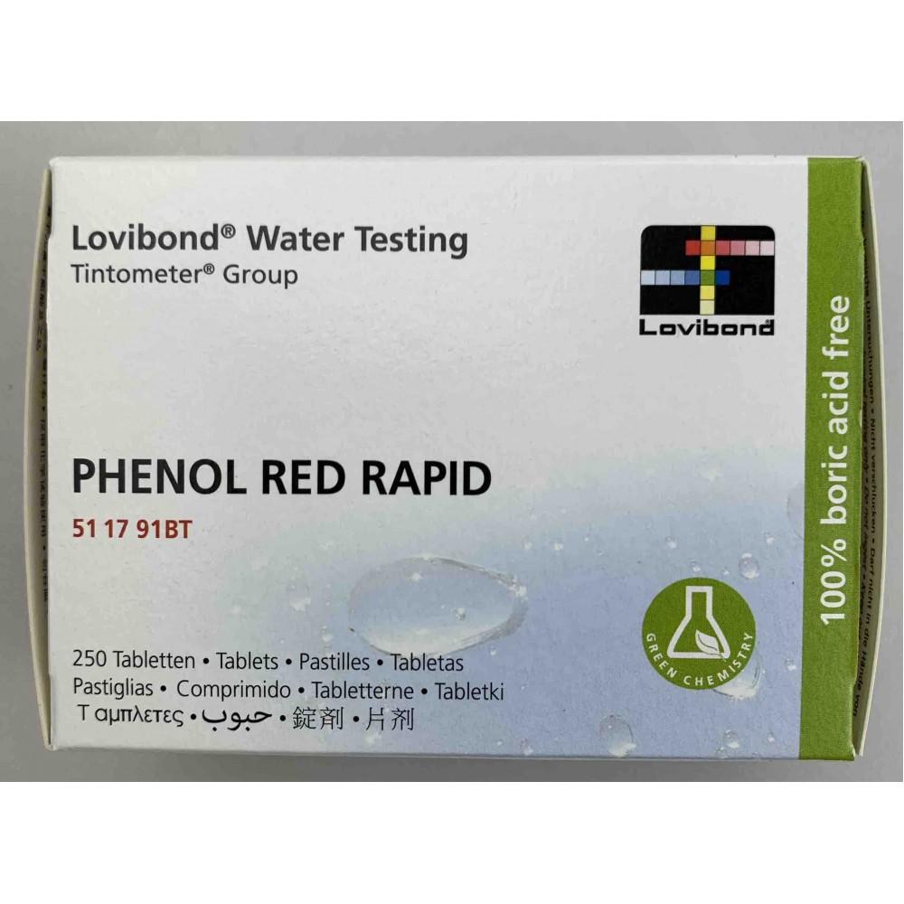 Pastiglie phenol red per TEST KIT MANUALE conf.250pz.