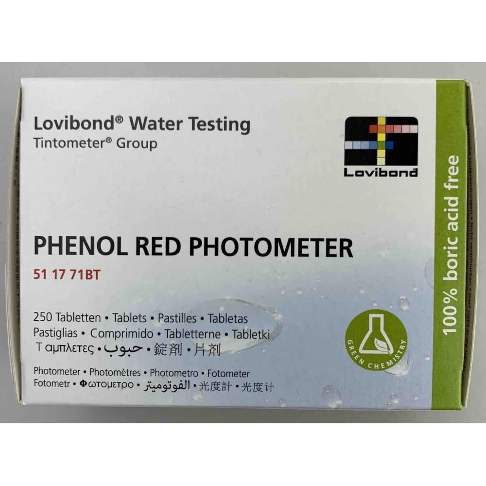 Pastiglie phenol red per FOTOMETRO ELETTRONICO conf.250pz.