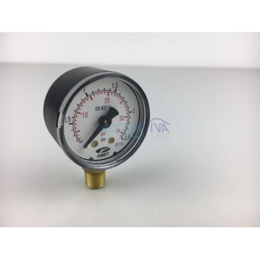 Manometro 2.5 Bar 1/4 pollici attacco radiale