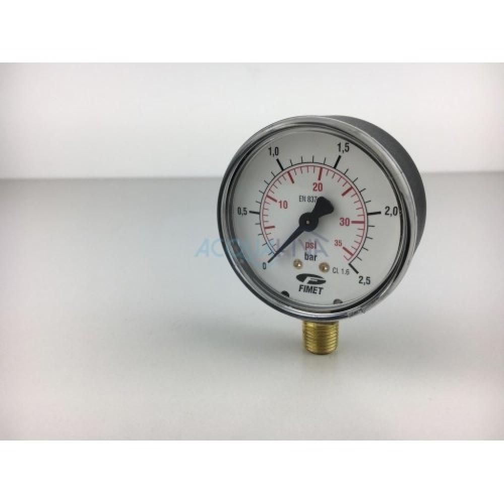 Manometro 2.5 Bar 1/2 pollici attacco radiale