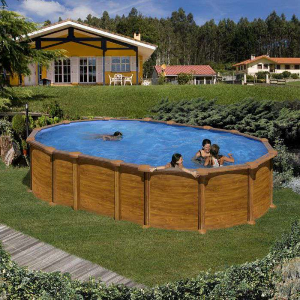 Amazonia piscina fuori terra Gre 610 cm - 375 cm - h 132 cm