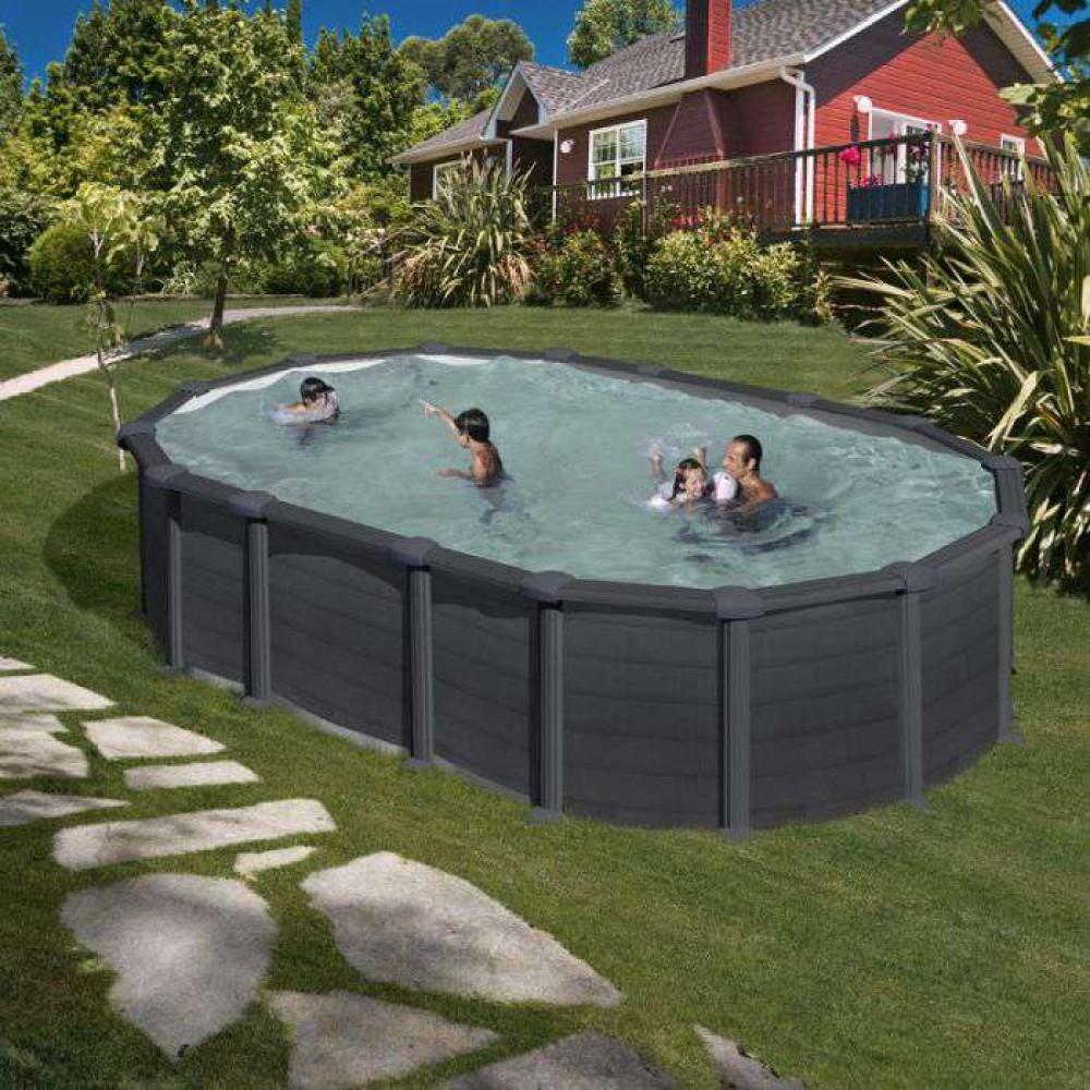 Capri piscina fuori terra  Gre 610 cm - 375 cm -  h 132 cm