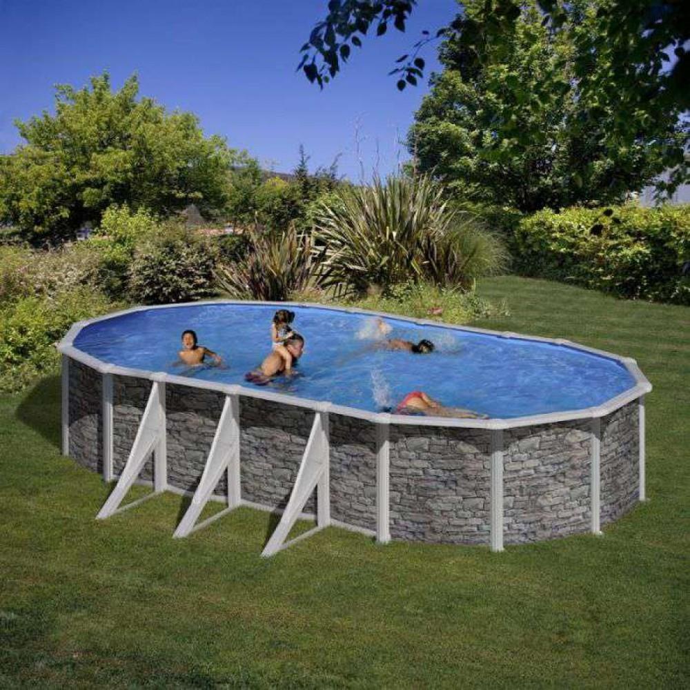 Cerdena piscina fuori terra Gre 730 cm - 375 cm - h 120 cm