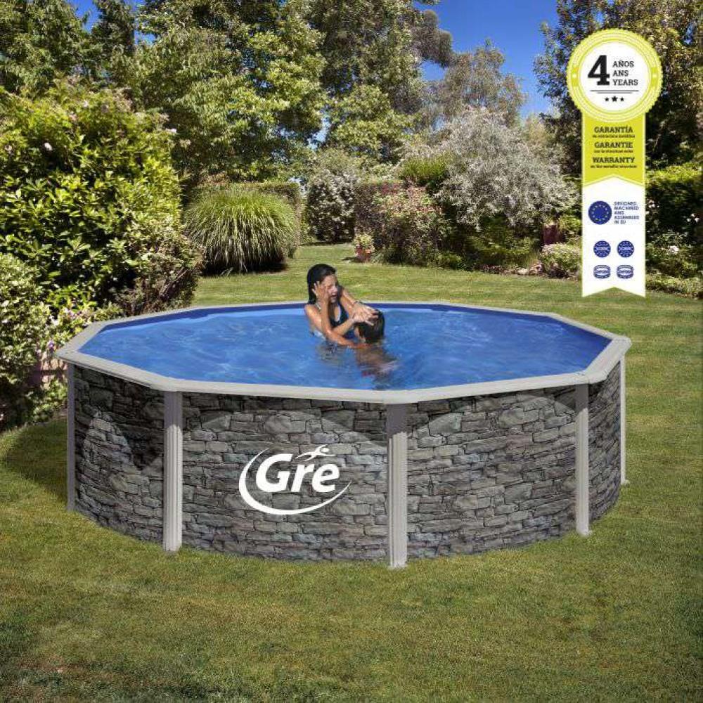 Corcega piscina fuori terra Gre Ø 460 cm - h 132 cm