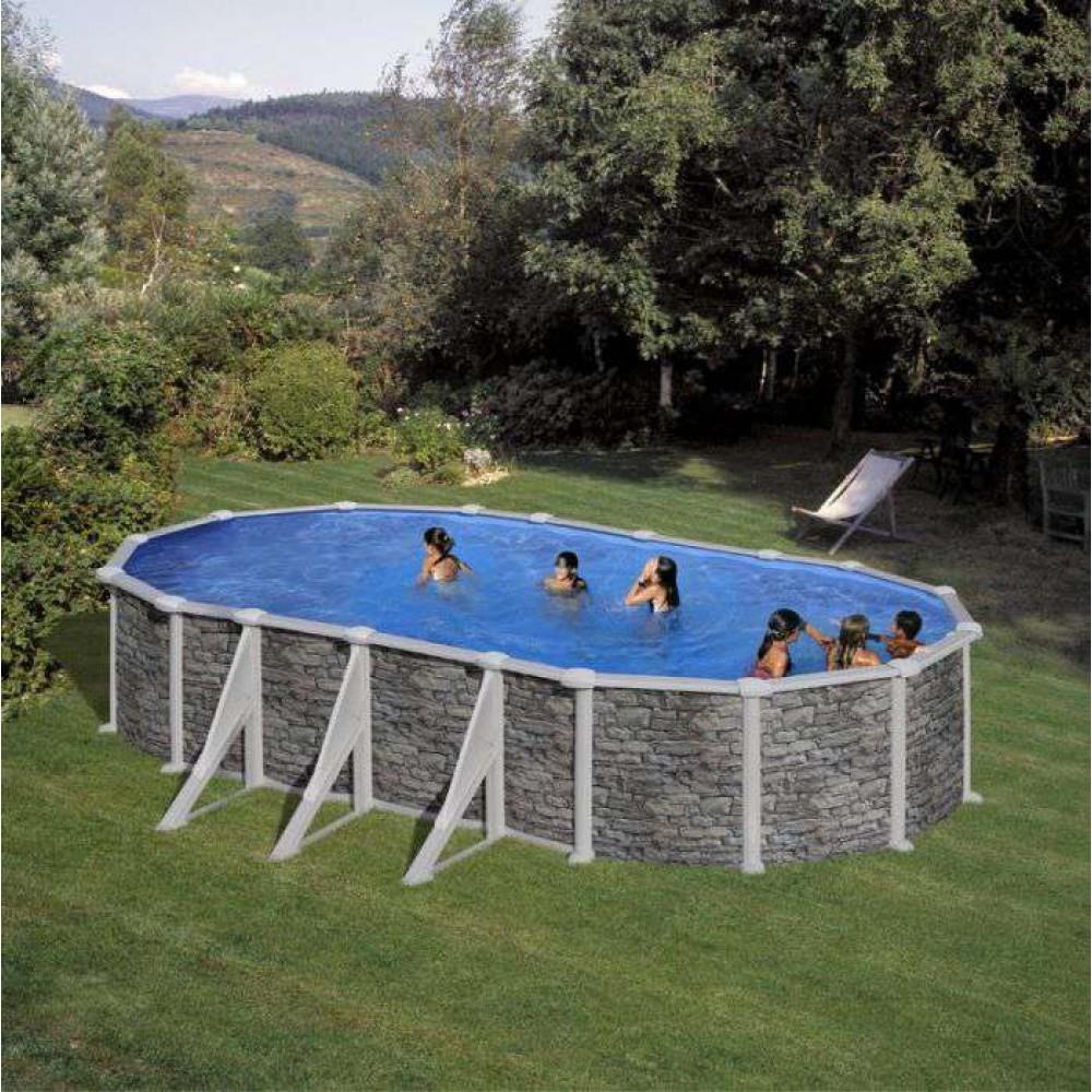 Corcega piscina fuori terra Gre 730 cm - 375 cm - h 132 cm