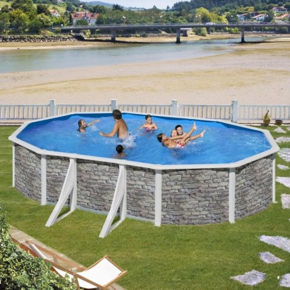 Cerdena piscina fuori terra Gre 500 cm - 300 cm - h 120 cm