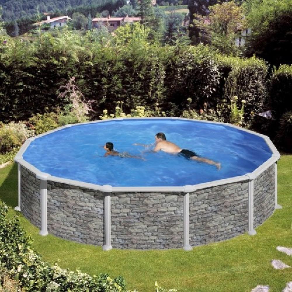 Corcega piscina fuori terra Gre Ø 550 cm - h 132 cm