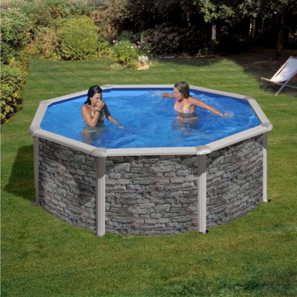 Corcega piscina fuori terra Gre Ø 350 cm - h 132 cm