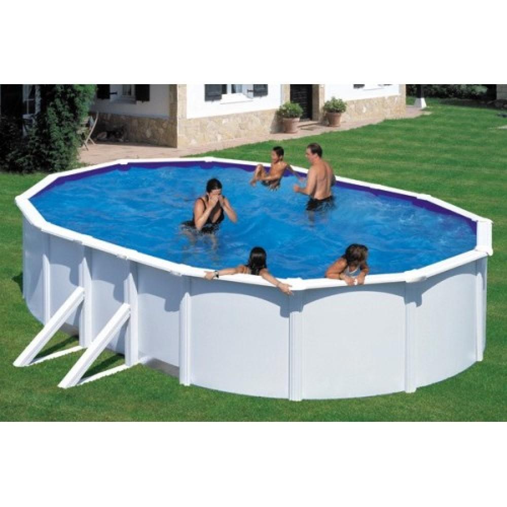 Fidji piscina fuori terra Gre 500 cm - 300 cm - h 120 cm