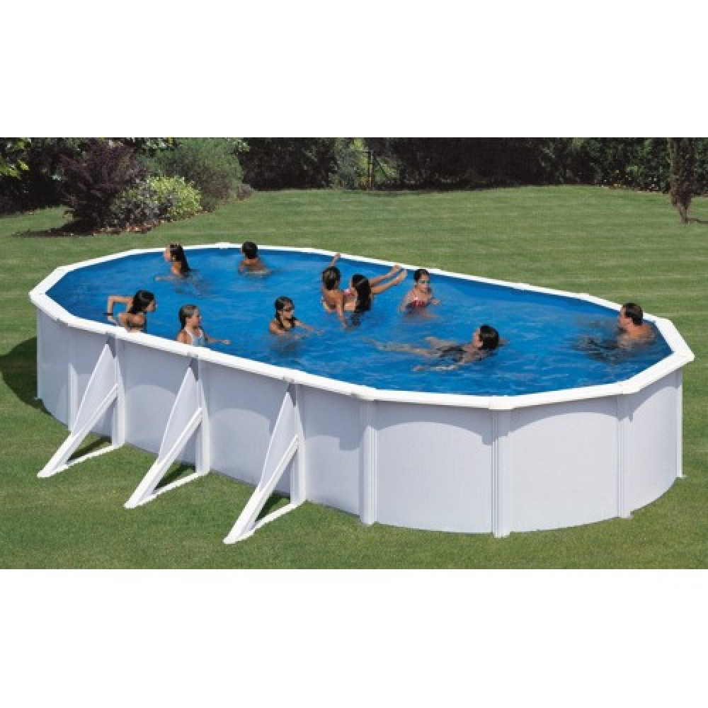 Fidji piscina fuori terra Gre 730 cm - 375 cm - h 120 cm