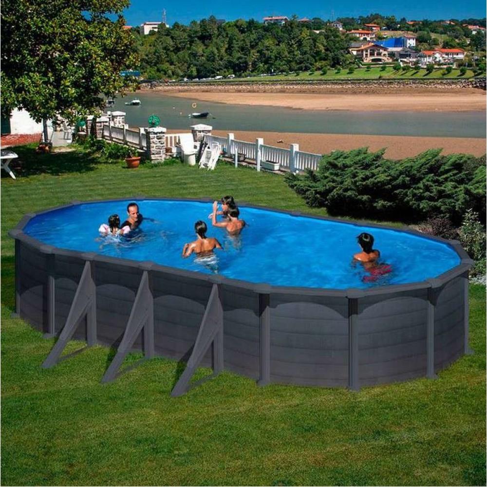 Granada piscina fuori terra Gre 730 cm - 375 cm - h 132 cm