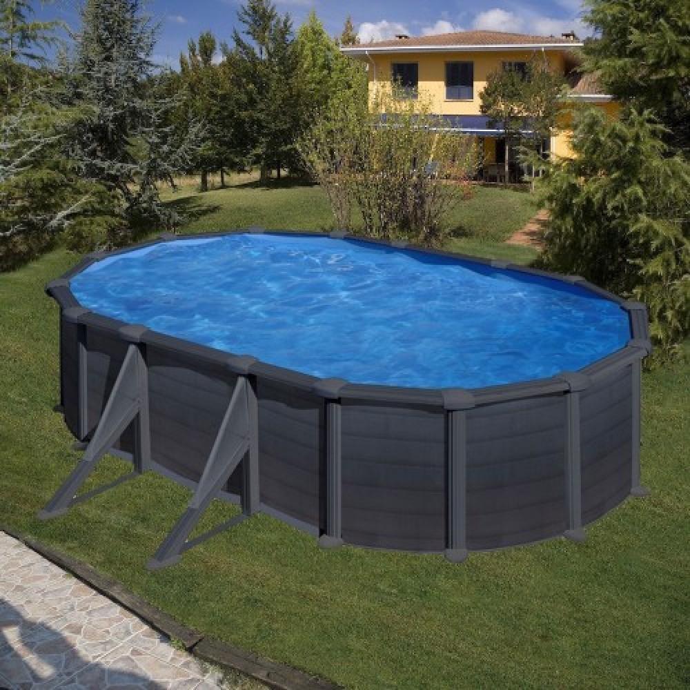 Granada piscina fuori terra Gre 500 cm - 300 cm - h 132 cm