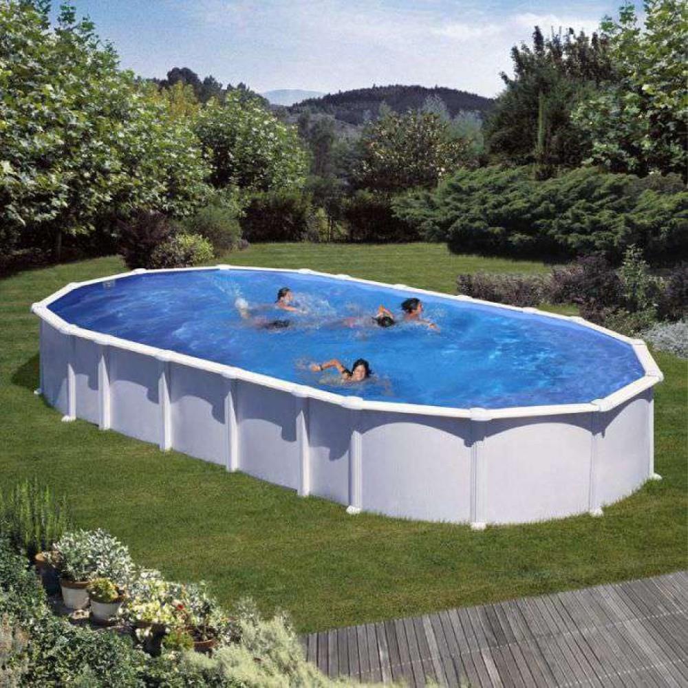 Haiti piscina fuori terra Gre 800 cm - 470 cm - h 132 cm