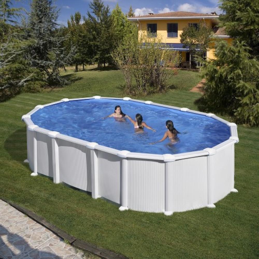 Haiti piscina fuori terra Gre 610 cm - 375 cm - h 132 cm
