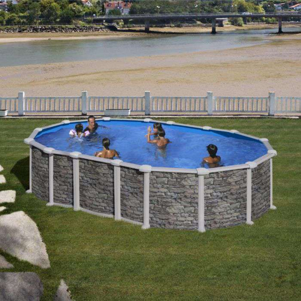 Santorini piscina fuori terra Gre 610 cm - 375 cm - h 132 cm