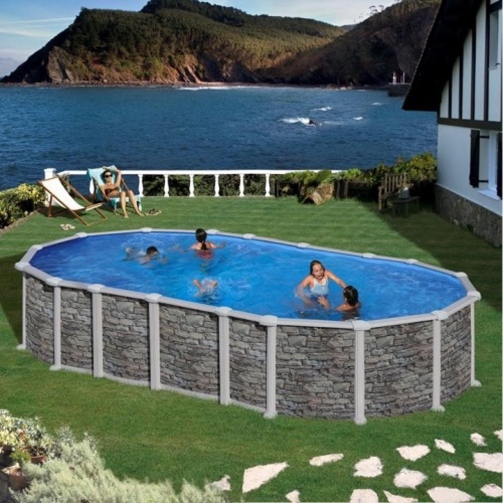 Santorini piscina fuori terra Gre 730 cm - 375 cm - h 132 cm