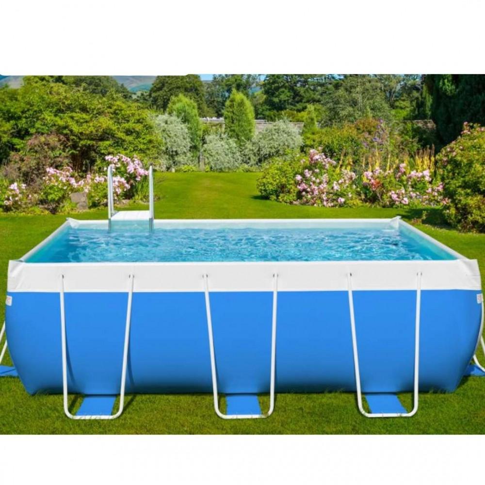Classic piscina 24 Laghetto 280 cm - 400 cm - h 120 cm filtro a boa