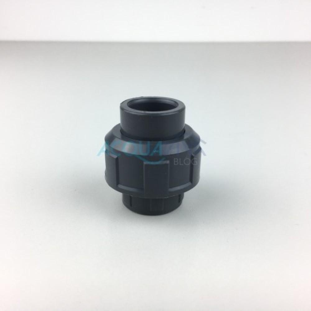 Bocchettone PVC c/oring Ø 20 mm Incollaggio F-F