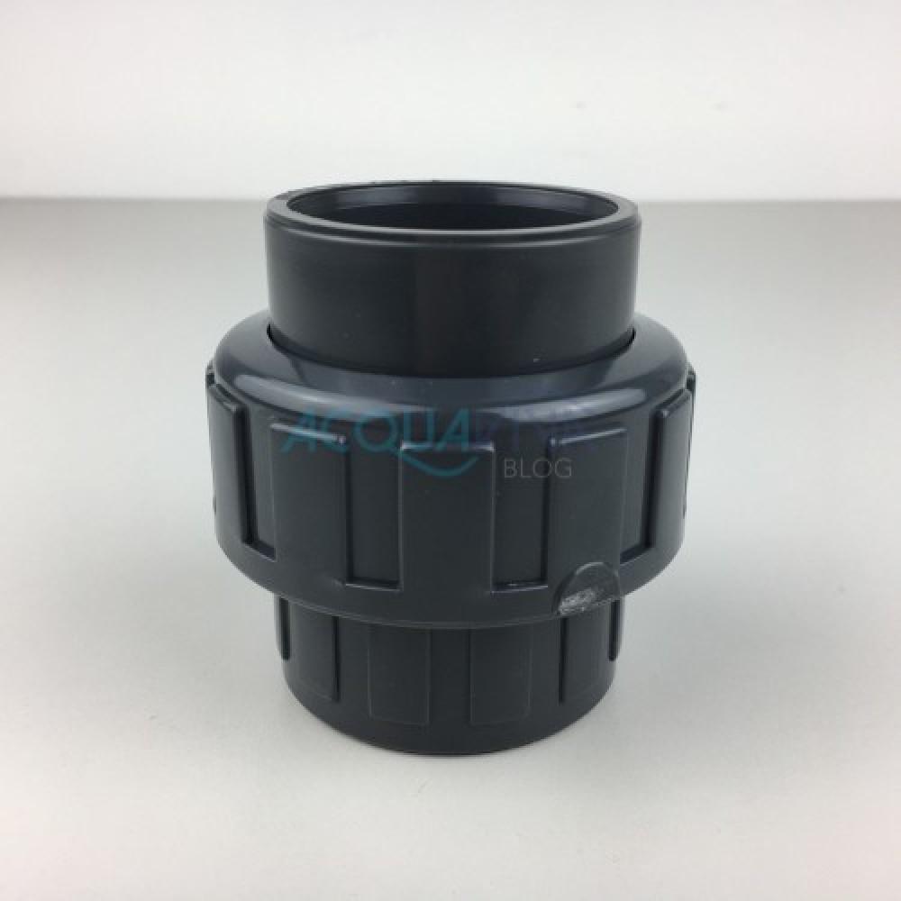 Bocchettone PVC c/oring Ø 50 mm Incollaggio F-F