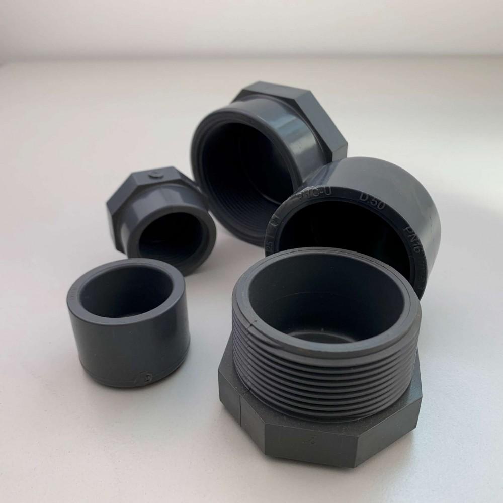 Calotte e tappi in pvc per impianti idraulici ideali per raccorderia piscina