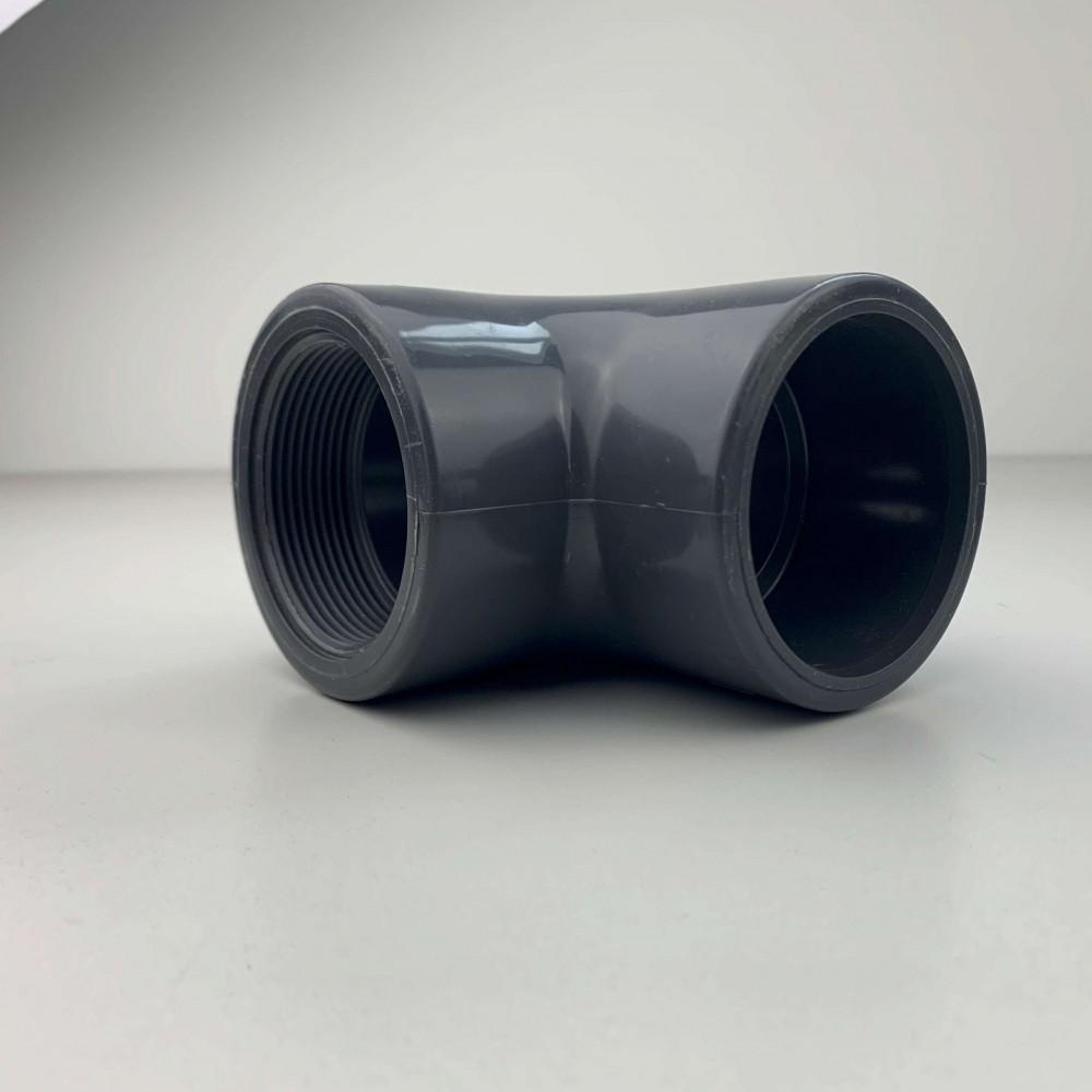 """Gomito a 90° PVC Diametro 1/2"""" Filetto F/F"""