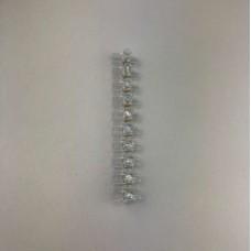 Morsetti trasparenti stecca da 10 pezzi