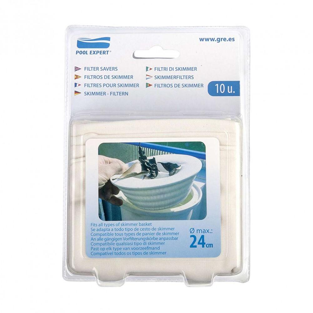 Kit 10 filtri usa e getta per skimmer Gre