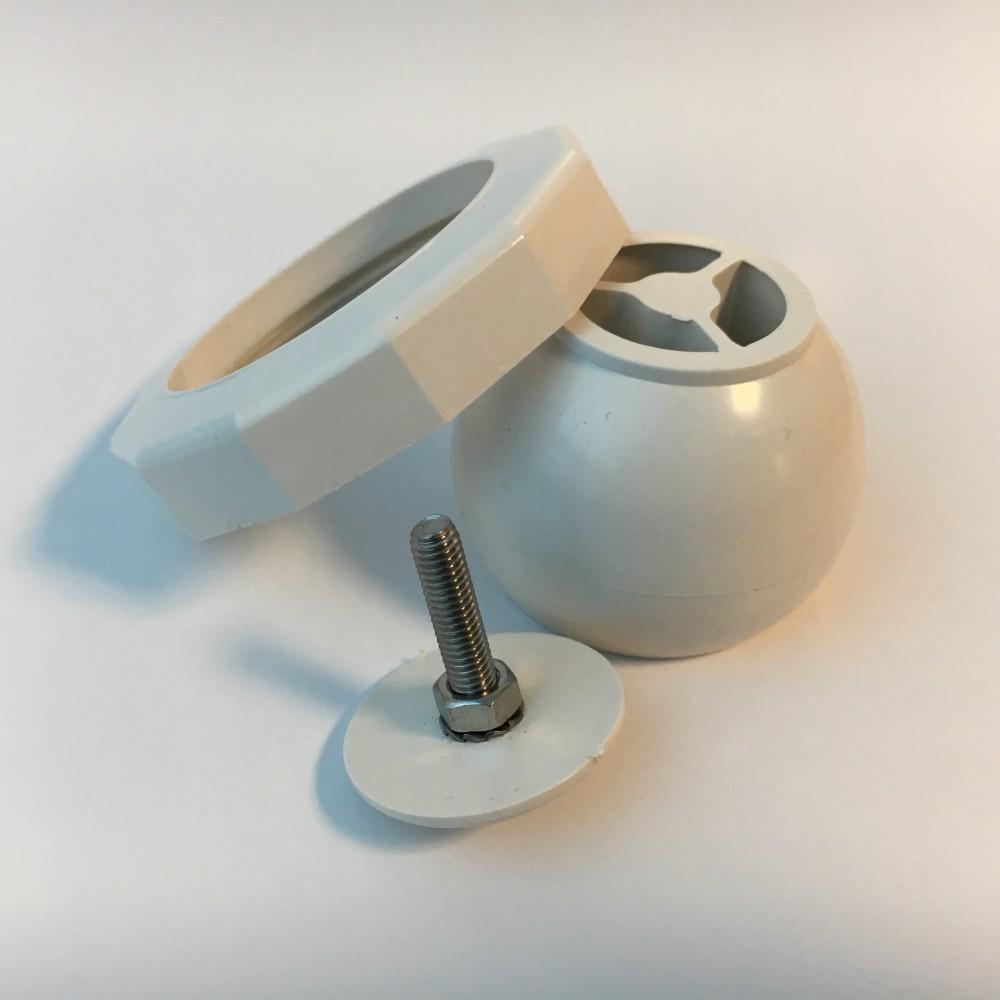 Sfera orientabile con ghiera in ABS Ø 60 mm (filetto) bocchette fino al 2009 Pools