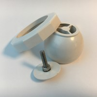 Kit Sfera orientabile con ghiera in ABS Ø60mm (filetto)