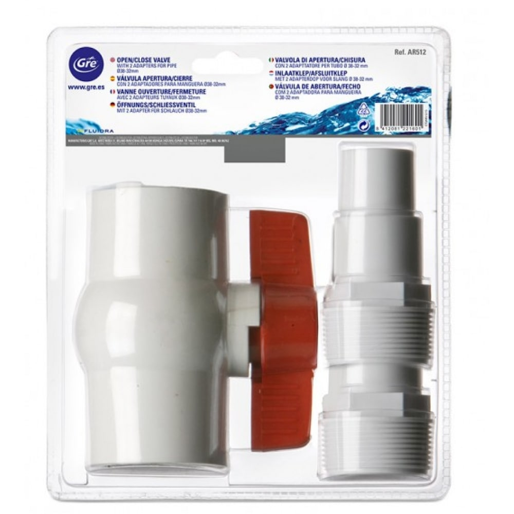 Valvola apertura - chiusura 38/32 mm Gre