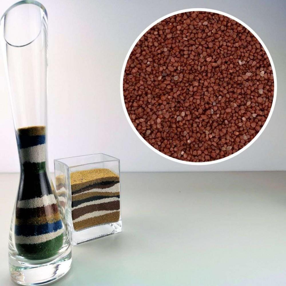 Sabbia decorativa rossa 0,7/1,2 mm sacco da 1Kg