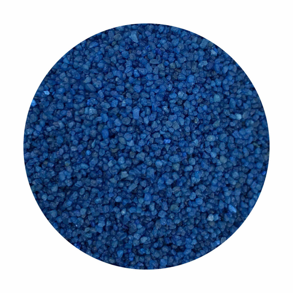 Sabbia decorativa blu mare 0,7 / 1,2 mm sacco da 25 Kg