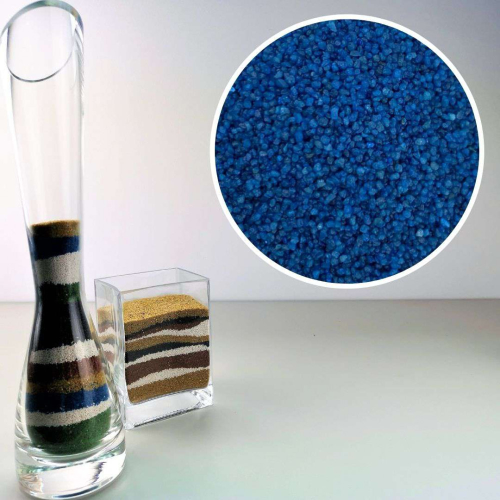 Sabbia decorativa blu 0,7/1,2 mm sacco da 1Kg