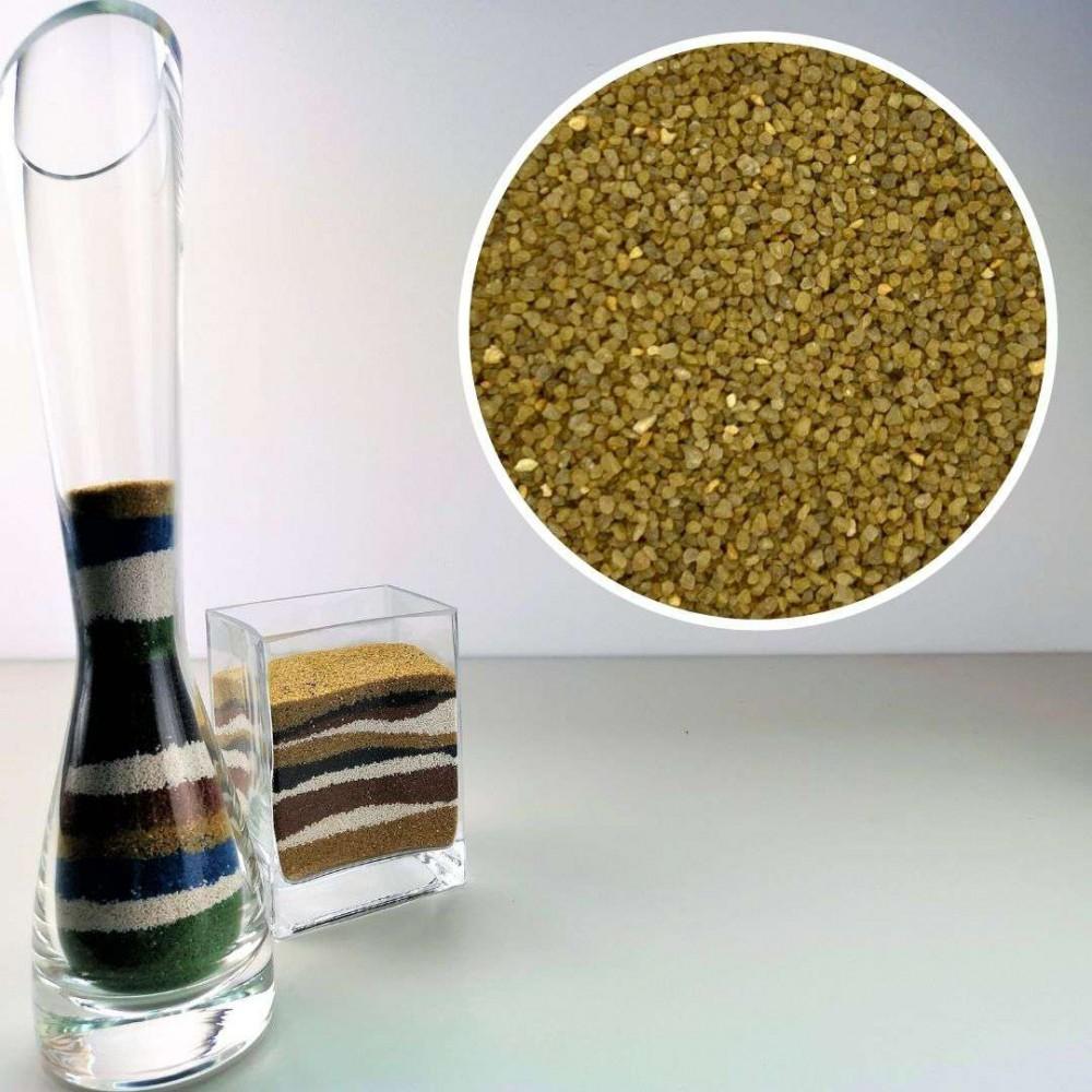 Sabbia decorativa giallo ocra 0,7/1,2 mm sacco 1kg