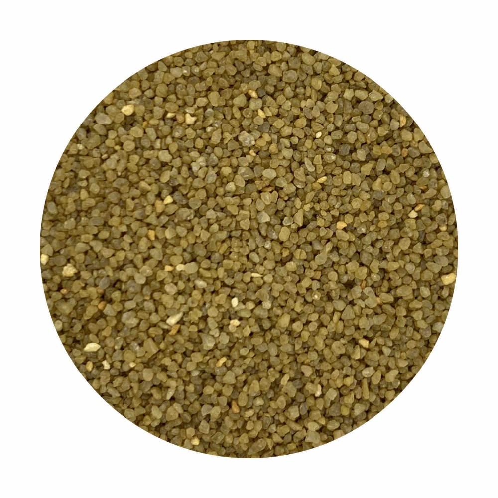 Sabbia decorativa gialla ocra 0,7 / 1,2 mm sacco da 25 Kg