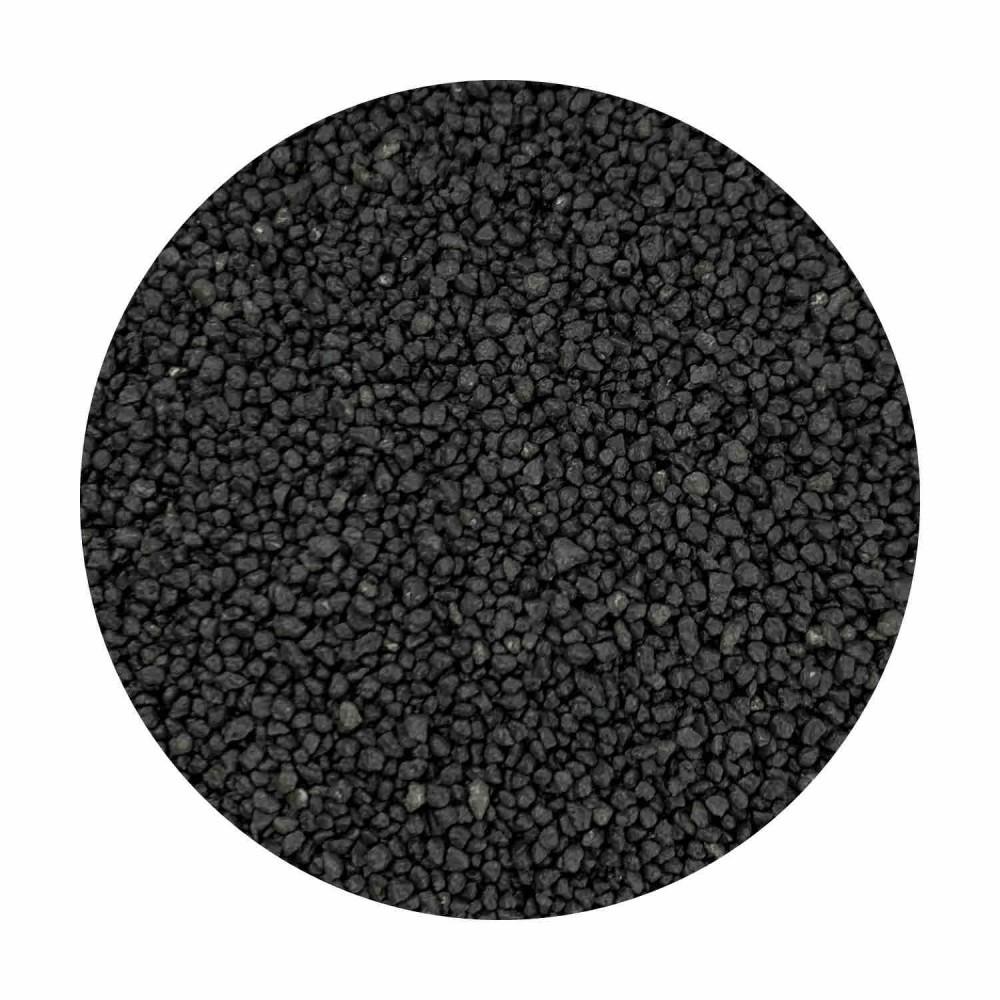 Sabbia decorativa nera 0,7 / 1,2 mm sacco da 25 Kg