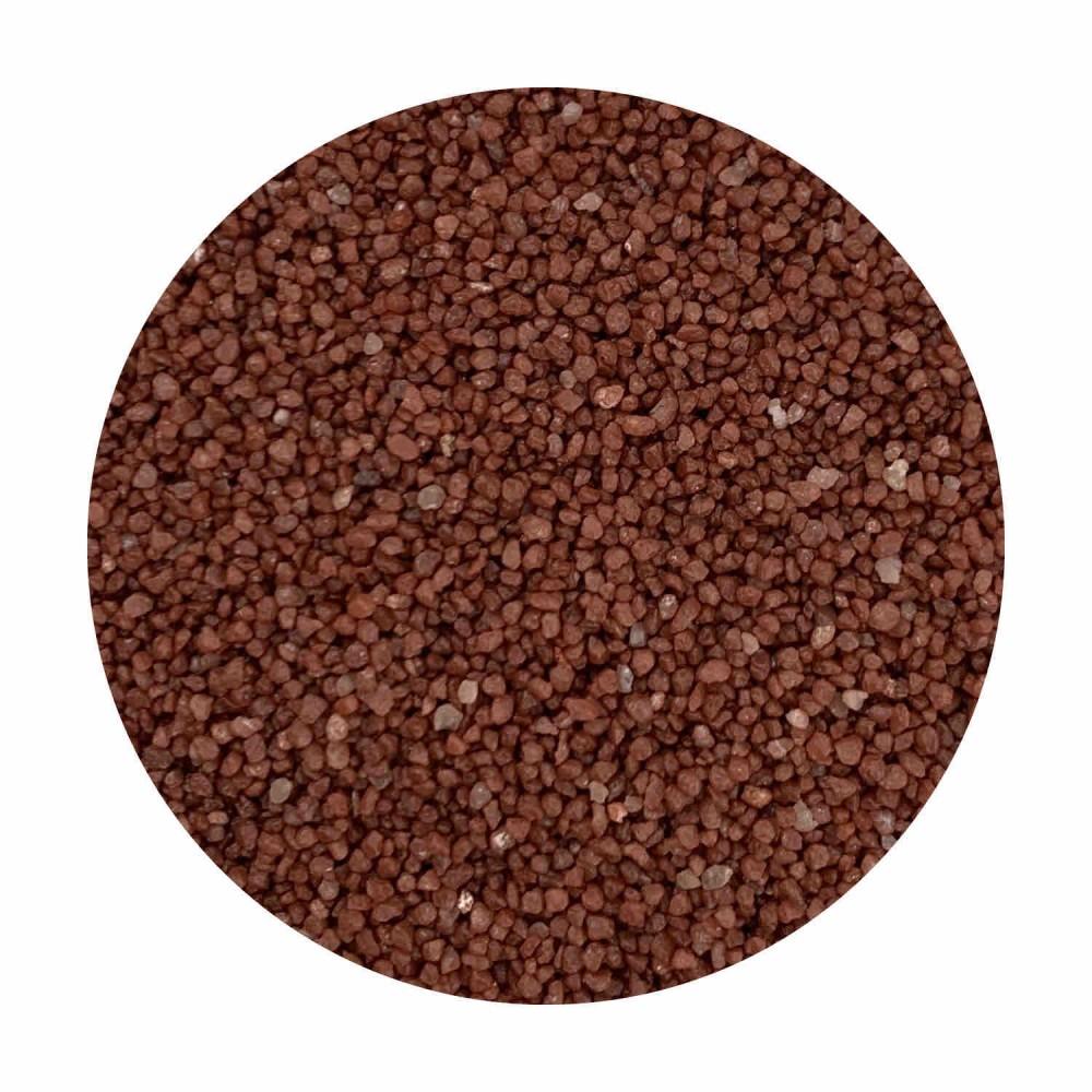 Sabbia decorativa rosso ossido 0,7 / 1,2 mm sacco da 25 Kg