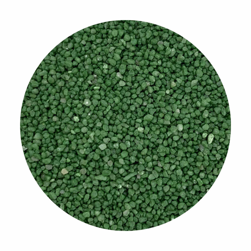 Sabbia decorativa verde 0,7 / 1,2 mm sacco da 25 Kg