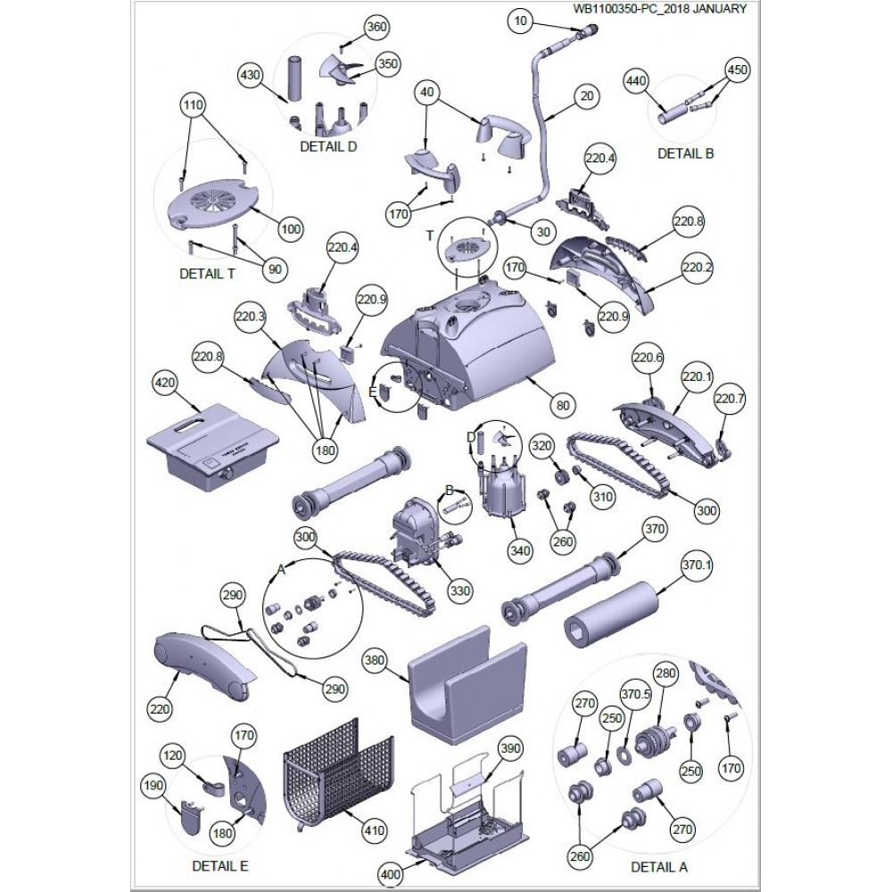 330 - Motore di trazione Astralpool Sonic 4