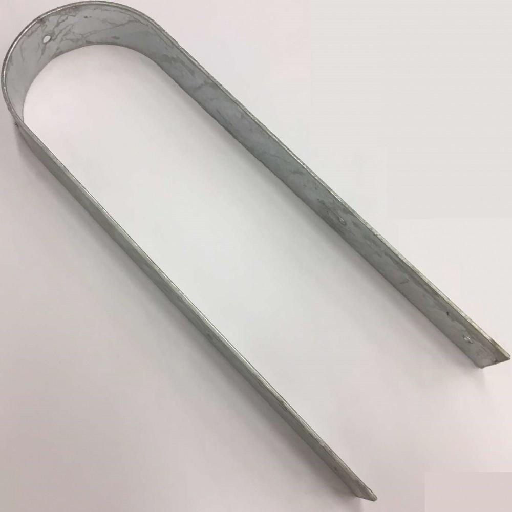 """Staffa """"U"""" per fissaggio corrimano 10 cm"""