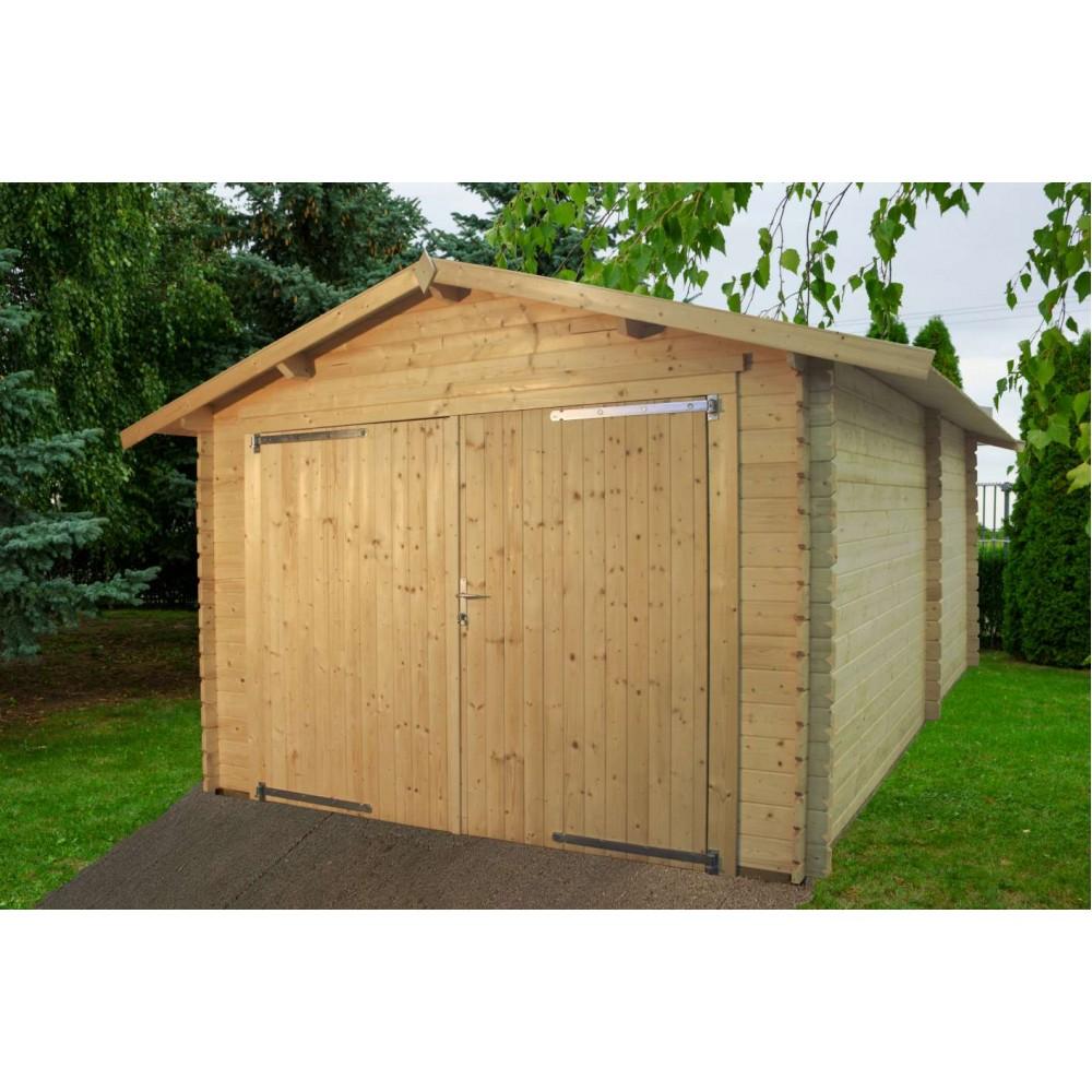 Garage in legno Eco 318 cm x 558 cm - h 260 cm