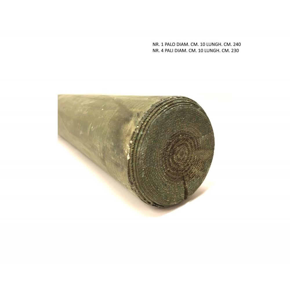 Kit pali da 10 cm di diametro x1 240 cm x4 230 cm