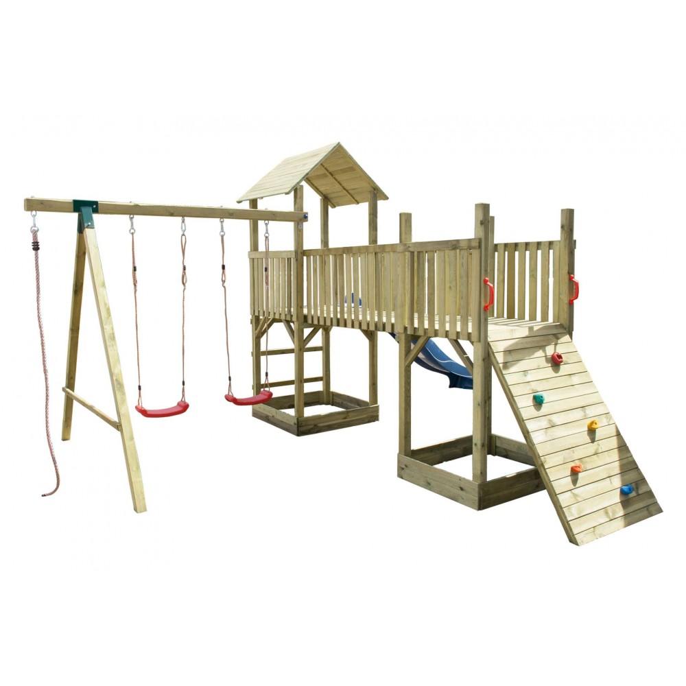 Torre in legno doppia 410 cm x 480 cm - h 280 cm