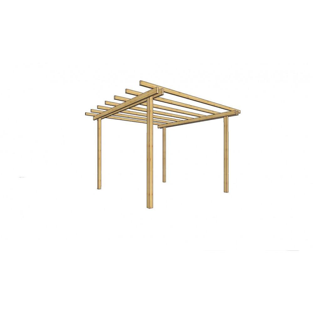 Pergola in legno 240 cm x 240 cm - h 240 cm