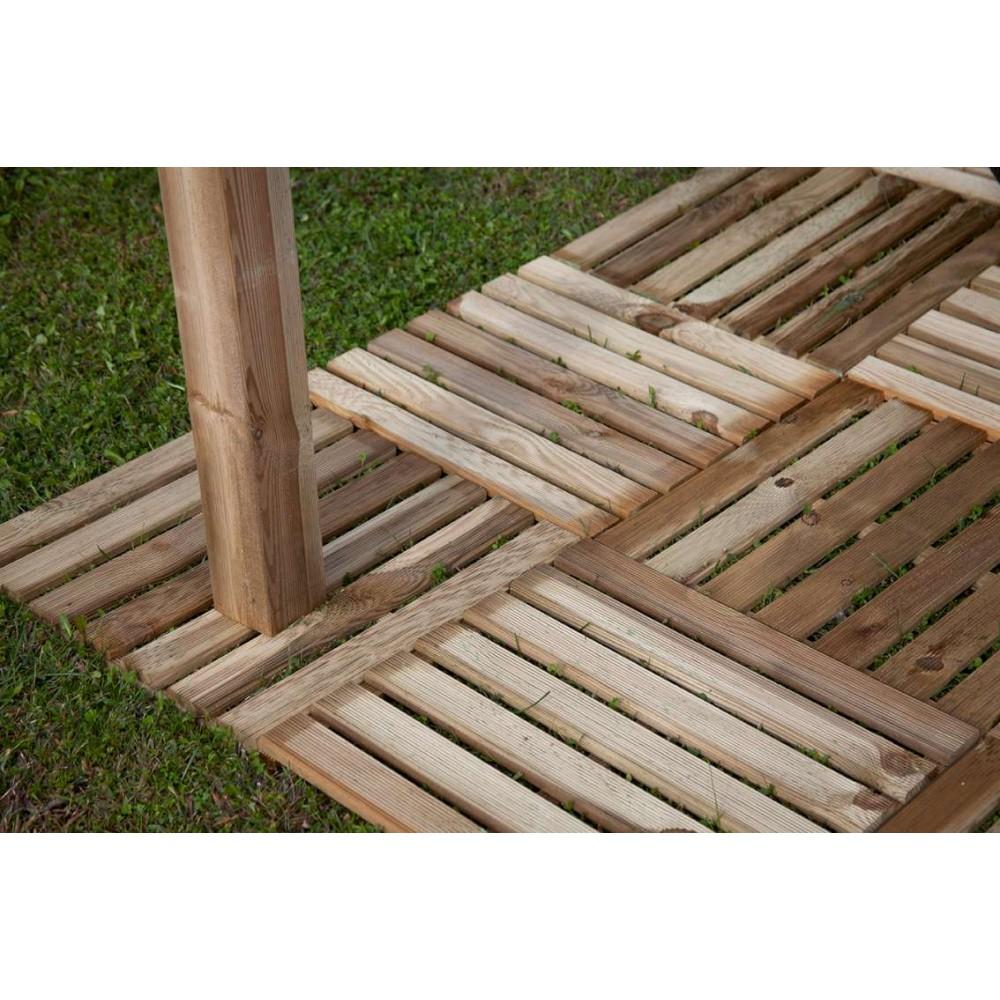 Quadrotte in legno per pavimenti esterni